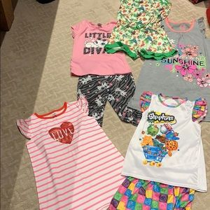 Other - Girl's Lot of 5 pajamas Size 7/8